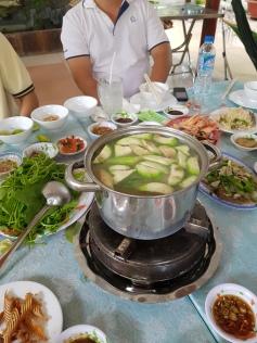 Mung-bean porridge with snake meat