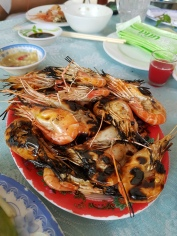 Started off with grilled river prawns